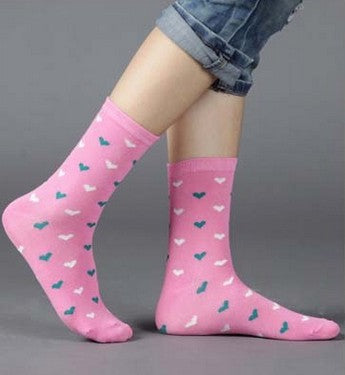 Candy colors 20 pieces=10pairs new design women's socks with high quality Winter Rhombus Dot Solid design media socking