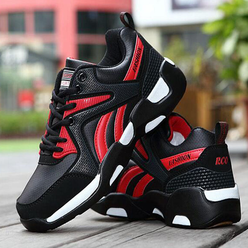 2016 Hot Air Breathable Men Running Shoes Boys Comfortable Leather Platform Sport Shoes Outdoor Movement Big Size 39-44