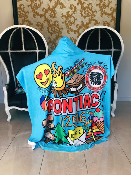 Pontiac Hooded Blanket