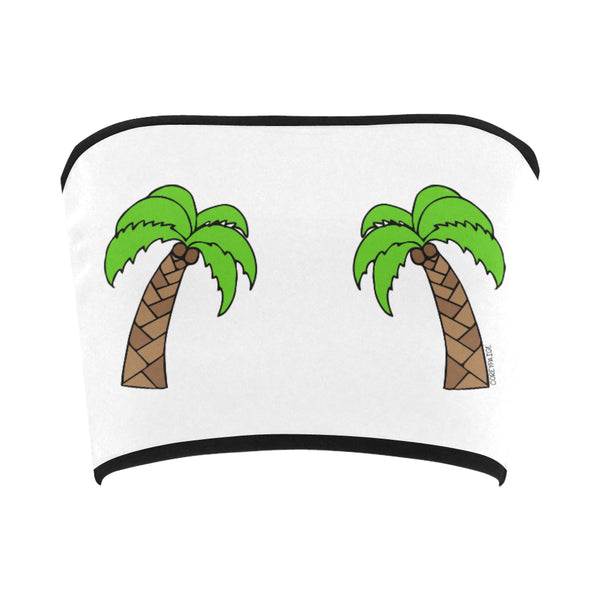 Double Palm Trees Bandeau Top