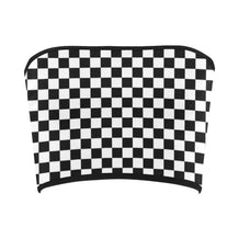 Black and White Checkerboard Bandeau Top