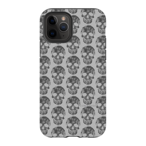 Gray Skull Pattern Phone Case