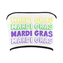 Mardi Gras Text Bandeau Top