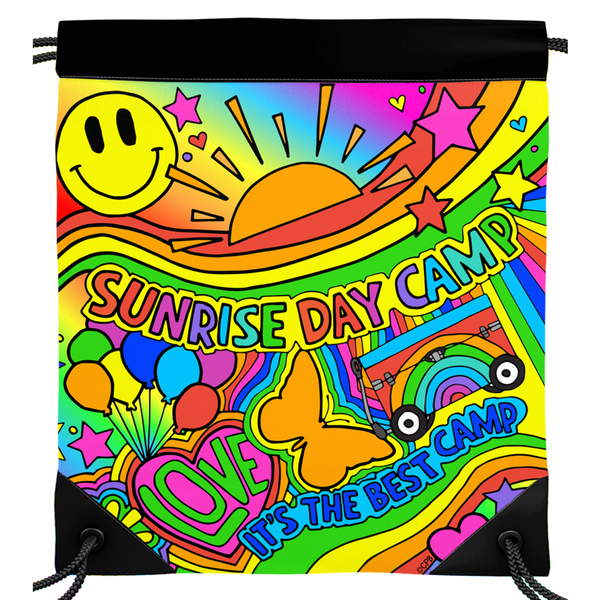 Sunrise Day Camp Drawstring Bag
