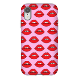 Red Lips on Pink Phone Case