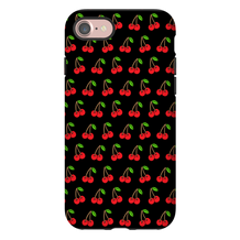 Cherries Black iPhone Case