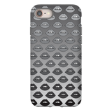 Gray Ombre Lips iPhone Case