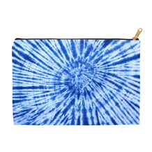 Blue Tie Dye Accessory Pouch