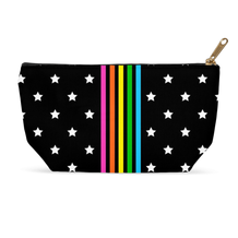 Rainbow Stripe Stars Accessory Pouch