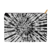 Black & White Tie Dye Accessory Pouch