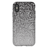 Gray Ombre Doodle Phone Case