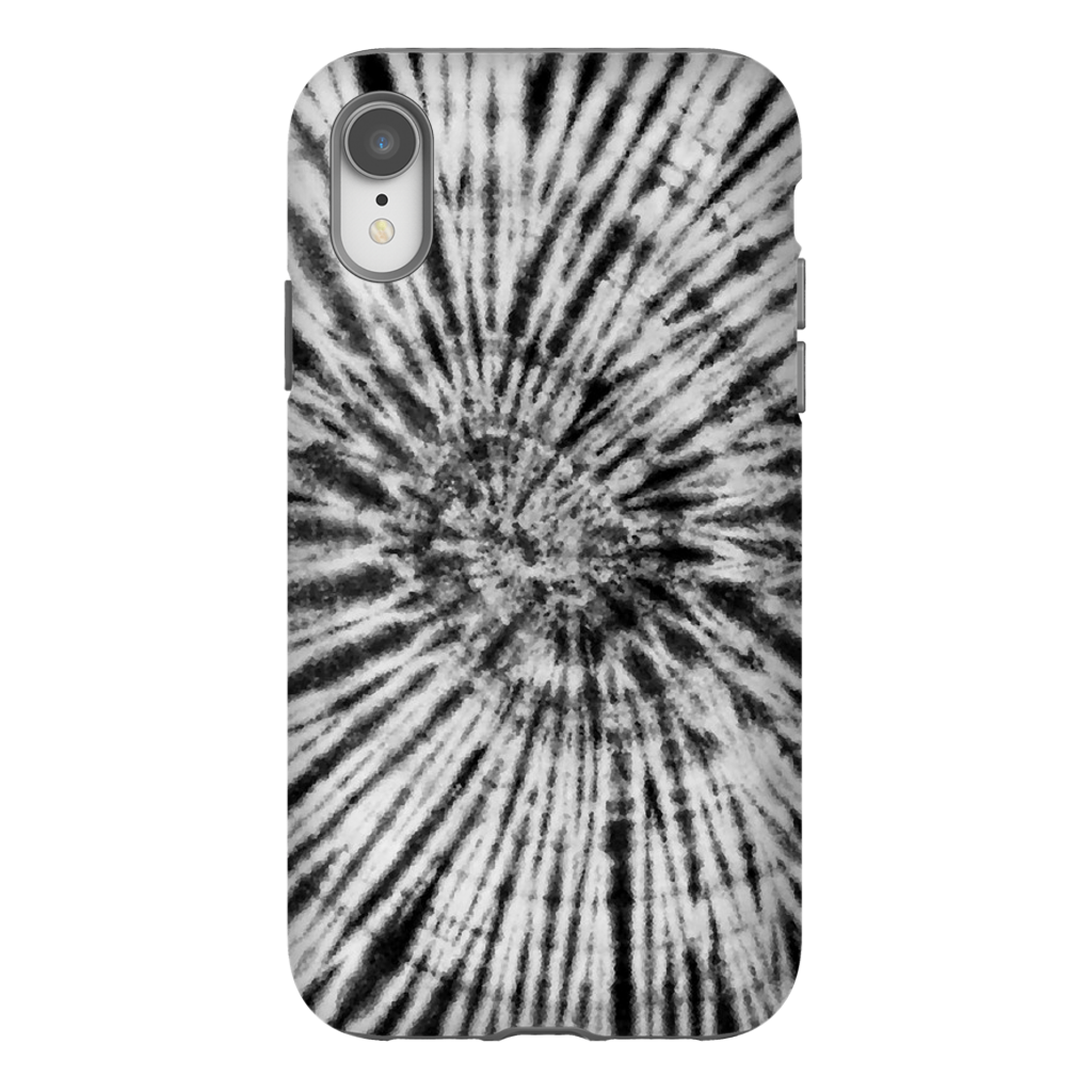 Black & White Tie Dye Phone Case