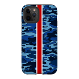 Navy Camo Red Stripe Phone Case