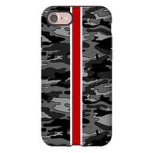 Gray Camo Red Stripe Phone Case