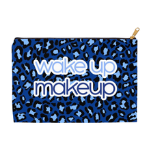 Wake Up Makeup Blue Cheetah Accessory Pouch