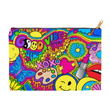 Hippie Collage Accessory Pouch