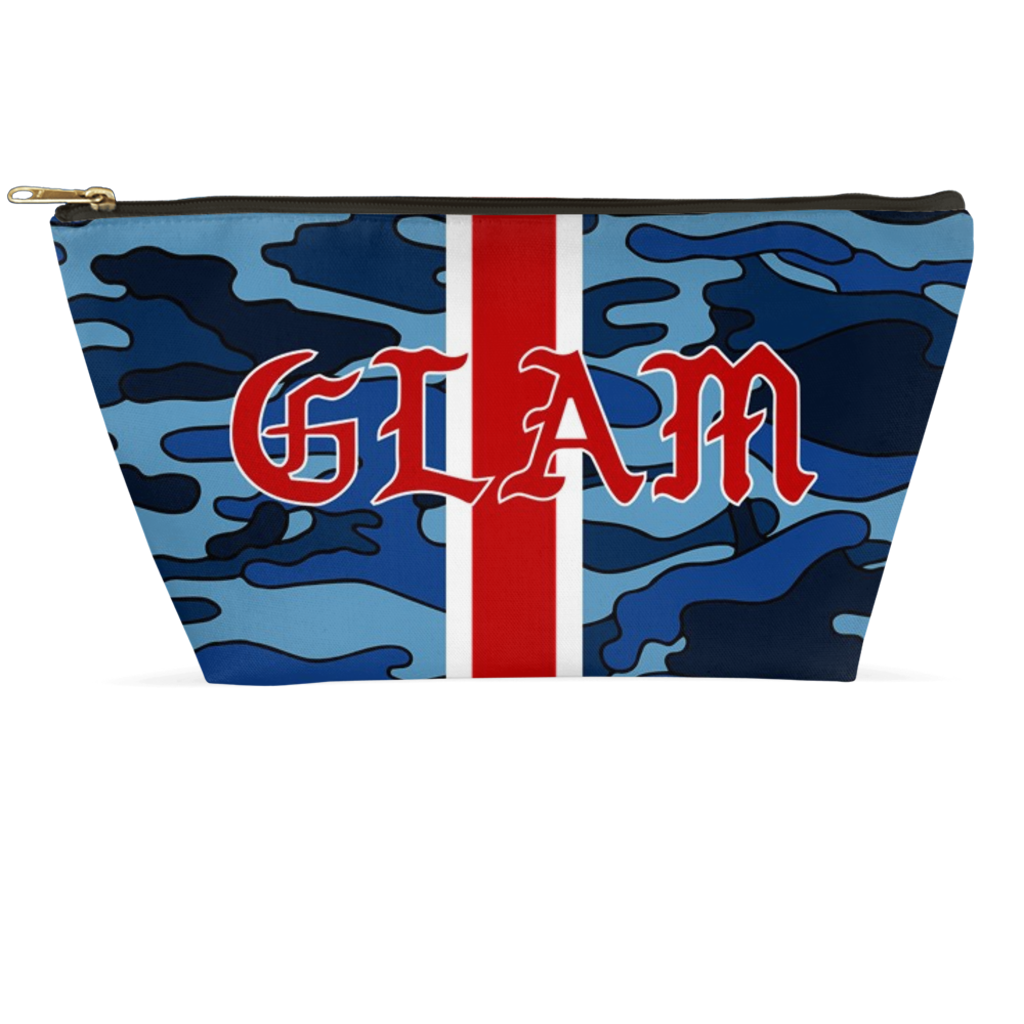Navy Camo Glam Accessory Pouch