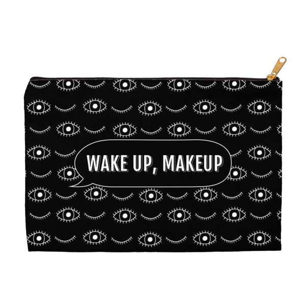 Wake Up Makeup Black & White Eyes Accessory Pouch