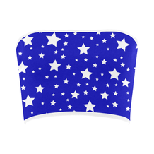 White Stars Blue Bandeau Top