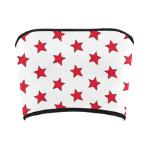 Red & White All-Star Bandeau Top