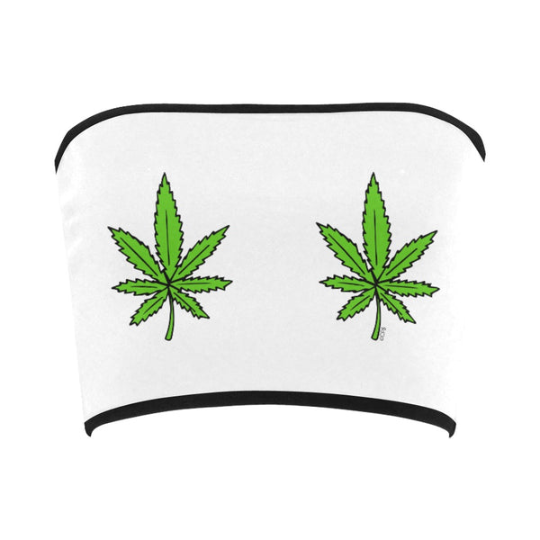 Double Weed Bandeau Top
