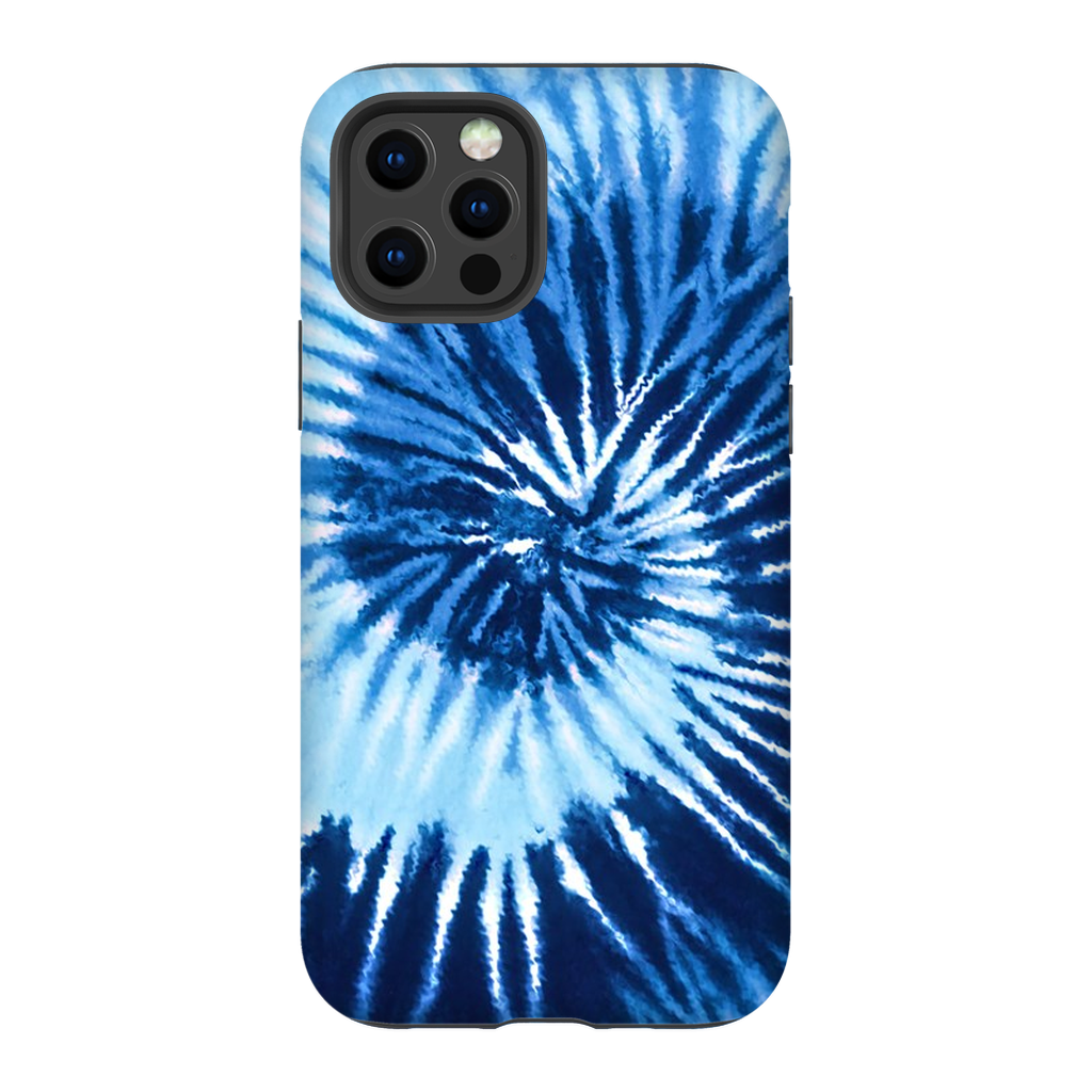Blue Two Tone Tie Dye Phone Case