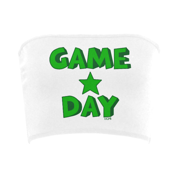 Green Game Day Star Stacked Bandeau Top