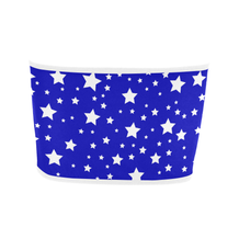 Red & Blue Split Stars Bandeau Top