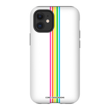 Rainbow Stripe White iPhone Case