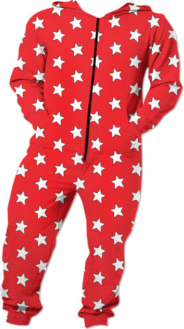 White Stars Red Onesie