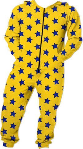 Blue Stars Yellow Onesie