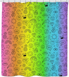 Fun Doodle Icons Shower Curtain