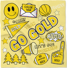 Go Gold Color War Bandana