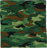 Green & Brown Camouflage Bandana
