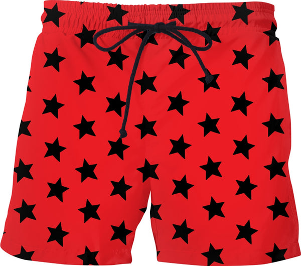 Black Stars Red Shorts