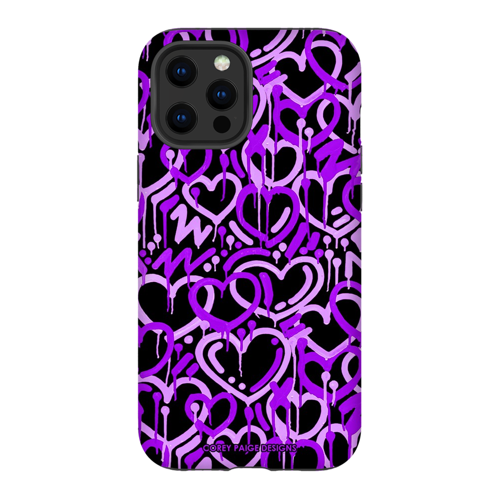 Purple Electric Love Phone Case