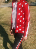 Red & White All-Star Zip Up