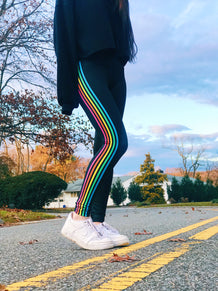 Rainbow Side Stripe Leggings