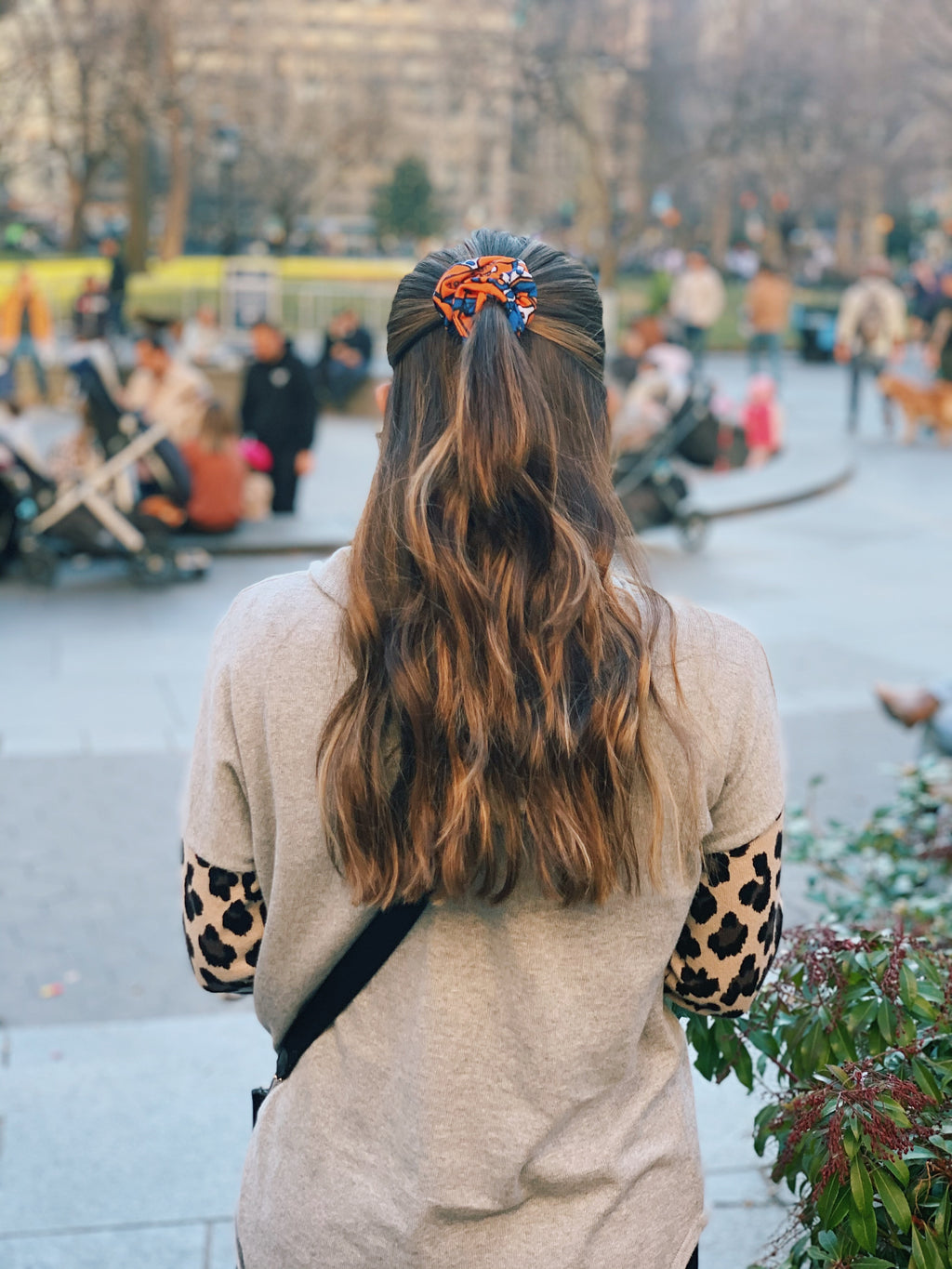 Syracuse Collage Scrunchie