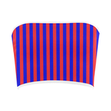 Red & Blue Striped Bandeau Top