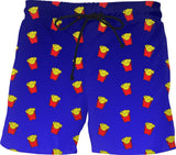 Fries Dark Blue Ombre Swim Shorts