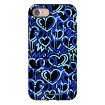 Blue Electric Love iPhone Case