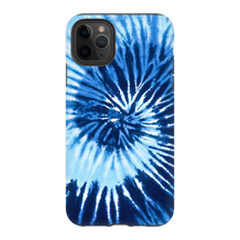 Blue Two Tone Tie Dye iPhone Case