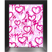 Pink Electric Love Portrait Framed Print