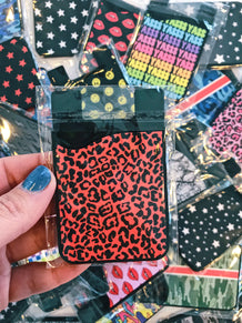 Red Cheetah Card Caddy