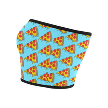 Dripping Pizza on Blue Bandeau Top