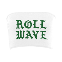 Roll Wave Gothic Letters Bandeau Top