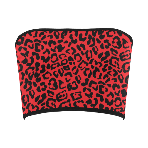 Red Cheetah Bandeau Top