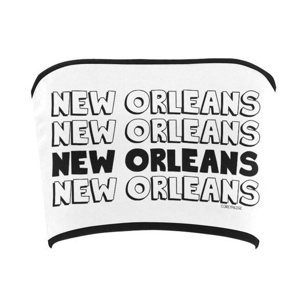 New Orleans Text Bandeau Top