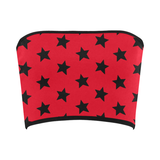 Red & Black All-Star Bandeau Top